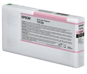 Epson T913600 200ml Vivid Light Magenta ink cartridge for the Epson P5000