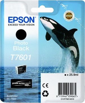 Epson UltraChrome HD Ink Photo Black 25.9ml for SureColor P600