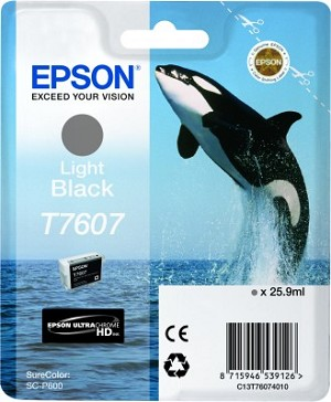 Epson UltraChrome HD Ink Light Black 25.9ml for SureColor P600
