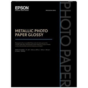"Epson Metallic Photo Glossy 17"" x 22"", 25 sheets"