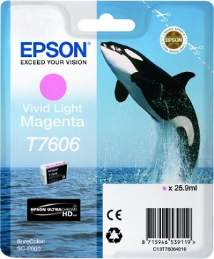 Epson UltraChrome HD Ink Vivid Light Magenta 25.9ml for SureColor P600