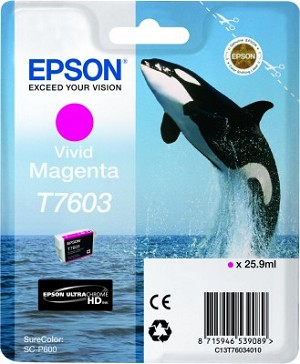 Epson UltraChrome HD Ink Vivid Magenta 25.9ml for SureColor P600
